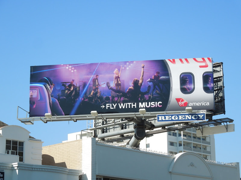 Virgin America Fly music billboard