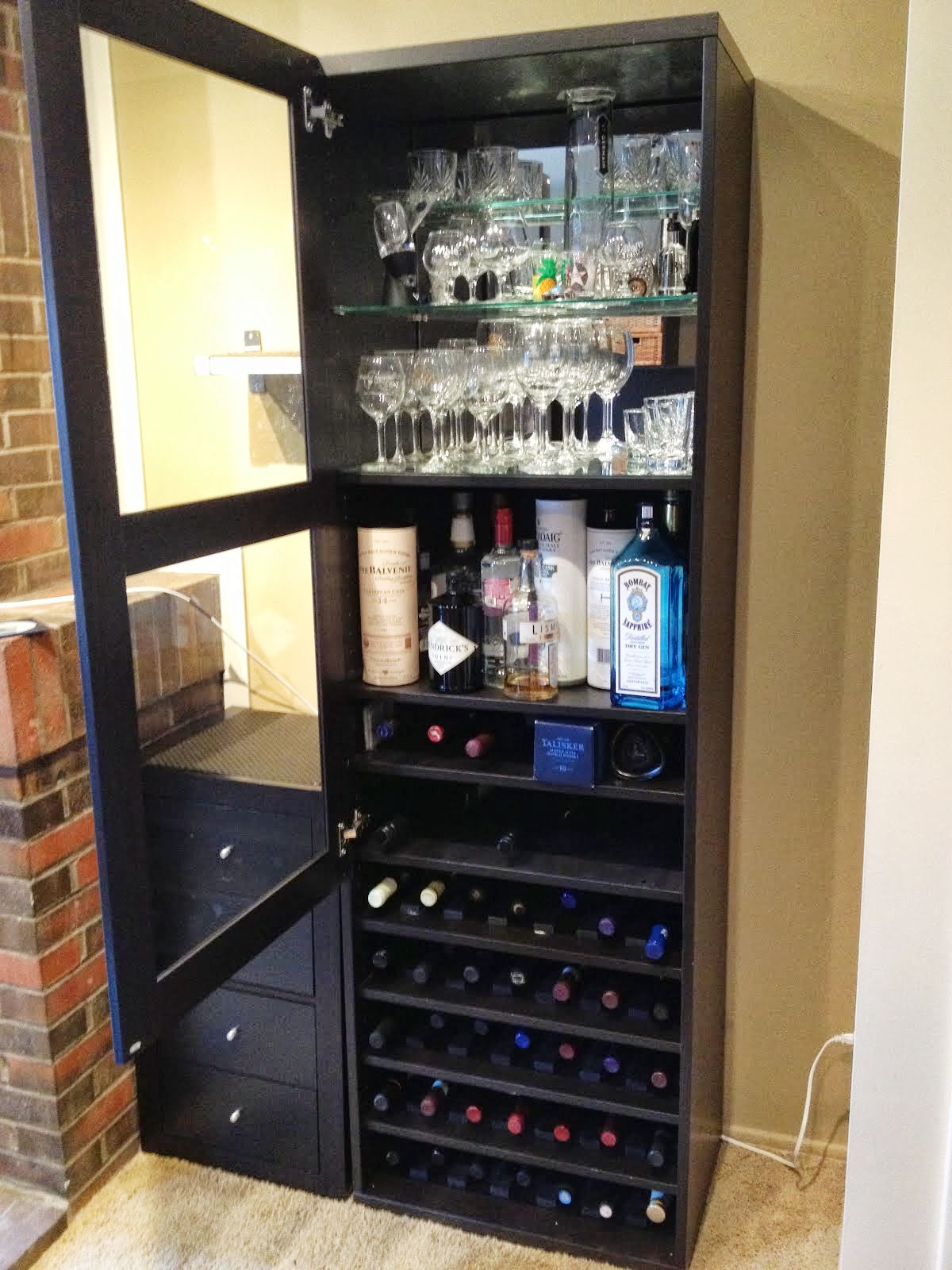 J.N. Taylor and Co.: Besta Wine Rack and Liquor Cabinet By ...