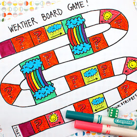 Weather Board Game for Preschoolers- Printable!  Print out, color, and play!