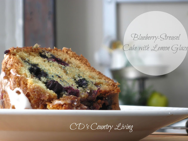 Blueberry-Streusel Cake with Lemon Glaze