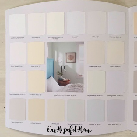 Behr neutrals paint chip sample book