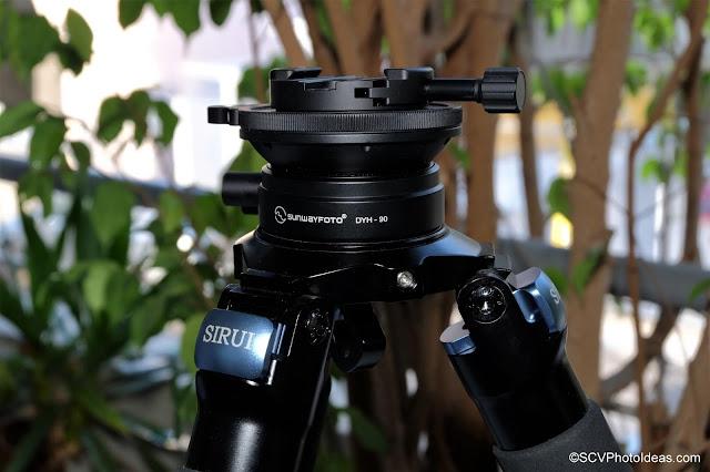 Sunwayfoto DYH-90 + DDY-64iL combo on Sirui R-5214X