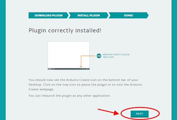 Tela feedback instalação do plugin