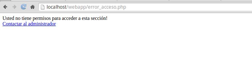 Error de acceso a directorio personalizado