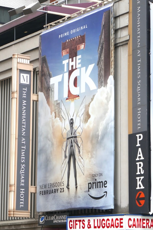 Tick season 1 part 2 billboard Broadway NYC