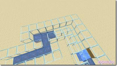 マインクラフト 水流を使った自動仕分け機 蛇行する水路 改良