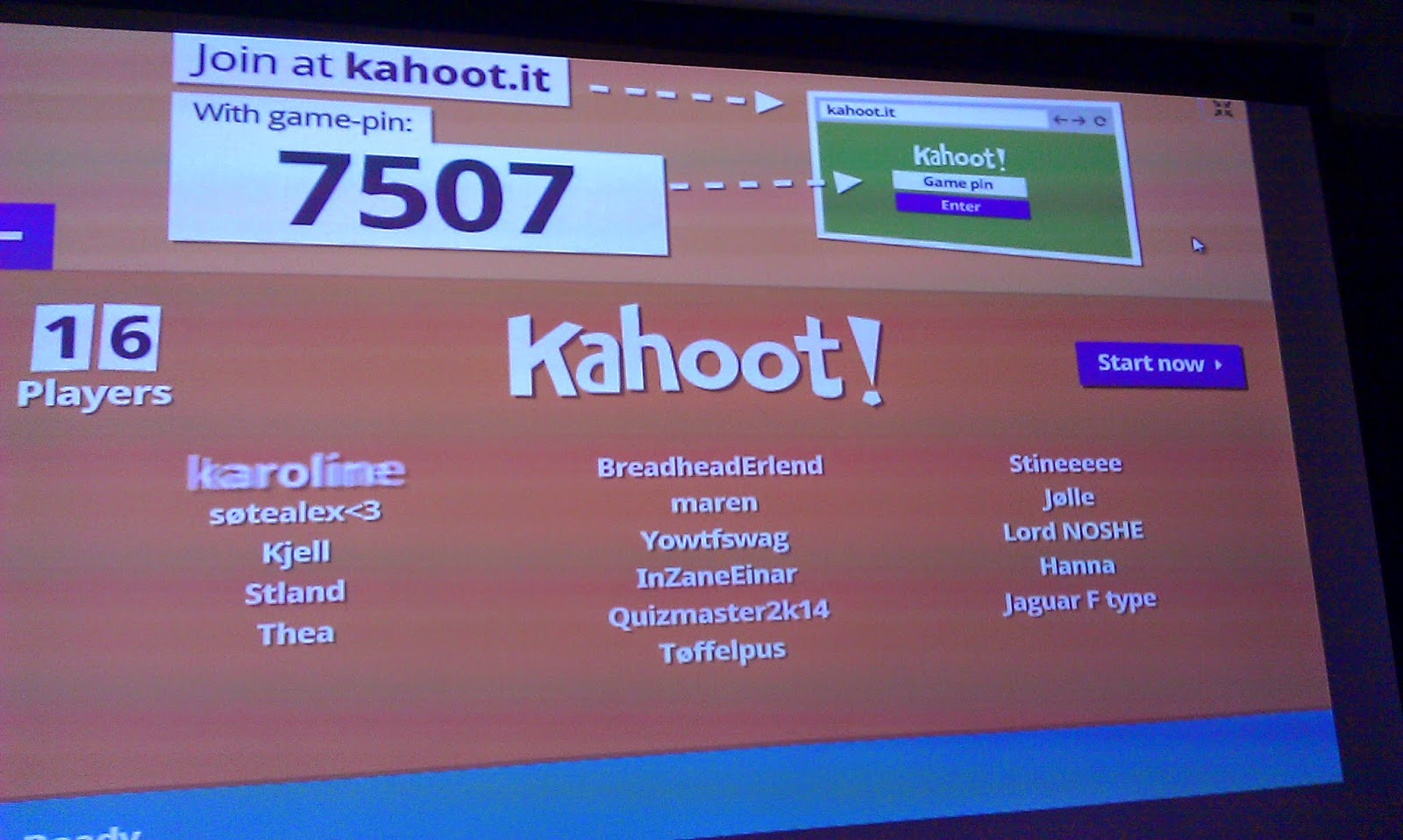 Cool kahoot names