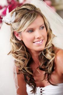 Peinado de novia con cara alargada