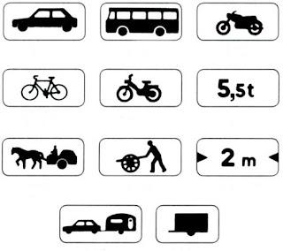 اللافتات الصغرى للارشادات المتنوعة وتحديد الصنف