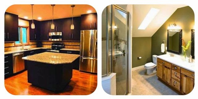 Ktchen and bathroom remodelling examples.