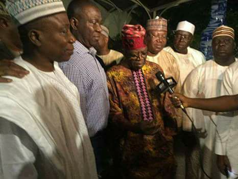 PDP Senate Deputy President, Ike Ekweremadu Leads Other Party Members To Tinubu's House In Ikoyi (photo)