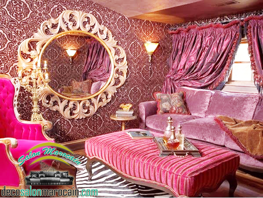 Photo decoration salon marocain id e for Deco petit salon marocain