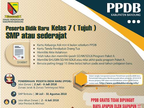 Jadwal PPDB Kabupaten Bandung 2018