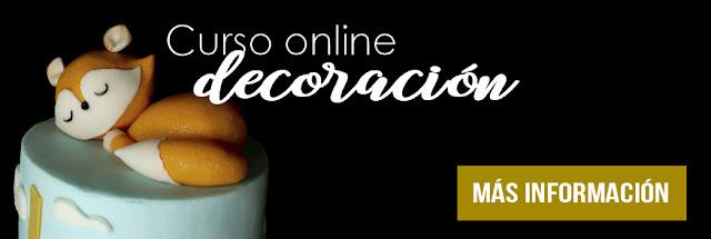 Curso online decoración de pasteles