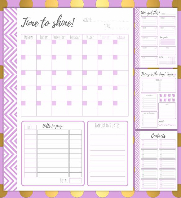 lavender planner, purple planner