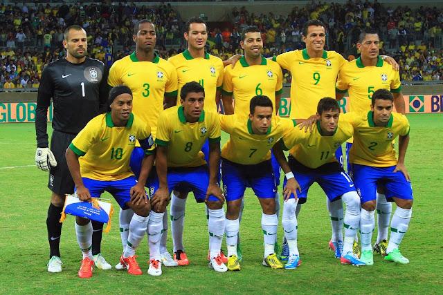 Formación de Brasil ante Chile, amistoso disputado el 24 de abril de 2013