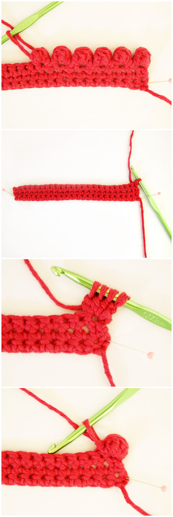Crocheted Bobble Edging Tutorial