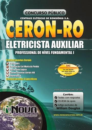 Apostila para Eletricista Auxiliar CERON RO - Centrais Elétricas de Rondônia S.A. 2014