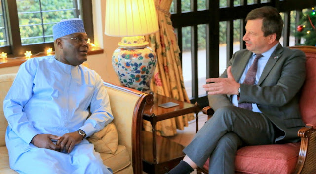 Atiku Abubakar meets with the UK High Commissioner to Nigeria, Paul Arkwright