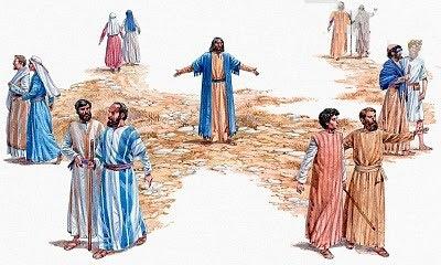 Resultado de imagen para IMAGENES DEL ENVÍO DE JESUS A SUS DISCIPULOS