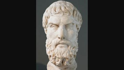 Busto de Epicuro exposto no Museu Britânico em Londres.