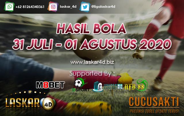 HASIL BOLA JITU TANGGAL 31 JULI – 01 AGUSTUS 2020