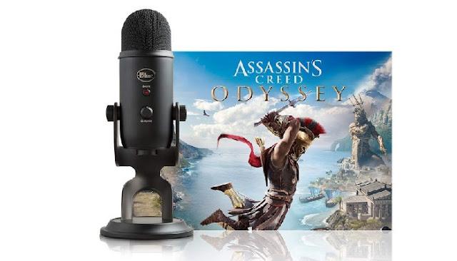 يتوفر ميكروفون Blue Yeti USB للبيع مع لعبة Assassin's Creed Odysse نسخة الكمبيوتر بسعر 109.99 دولار