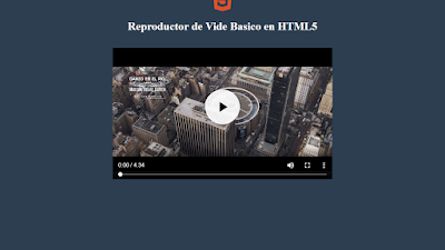 Codigo de reproductor de video basico en html5