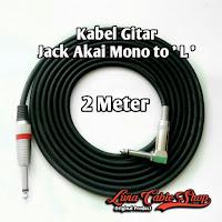 Kabel gitar 2 meter jack akai mono to akai mono ' L '