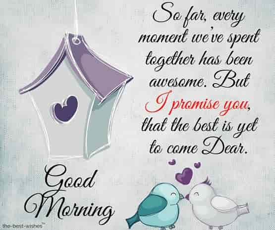 good morning to dear one sms