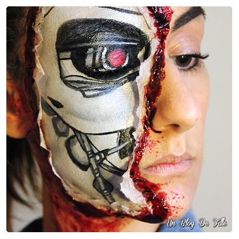 http://unblogdefille.blogspot.com/2014/10/halloween-makeup-terminator.html