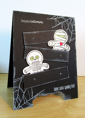 Halloween Dresser Card made with Stampin'UP!'s Cookie Cutter Halloween Stamp Set