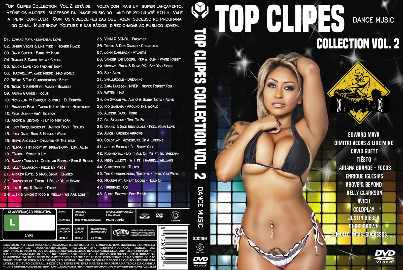Top Clipes Collection Vol.2 Dance Music DVD-R