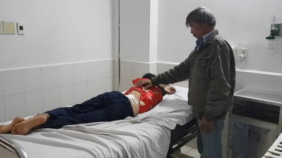 Vết thương trên lưng chị Trần Thị Kim Hoa