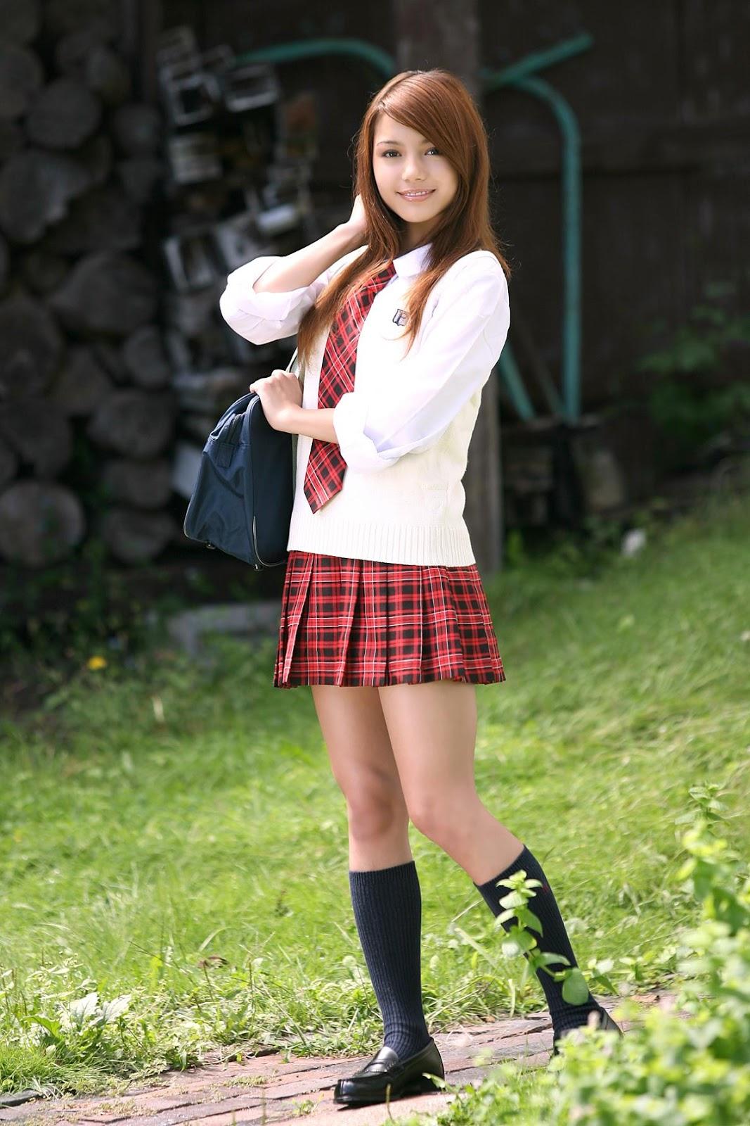 Asian school girls stripping