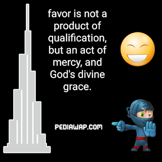 favor of god quotes