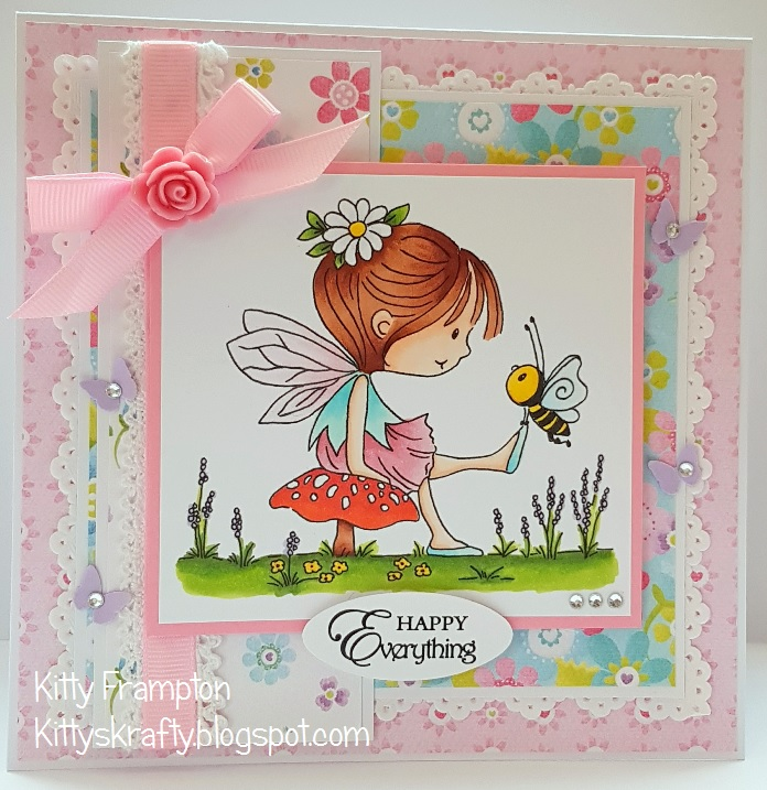 Kittys krafty blog march 2018 i used my copic pens to colour the butterfly fairy digi stamp the papers are from an old paper pad that lili of the valley used to do altavistaventures Image collections