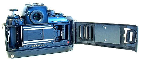 Nikon F4, film box