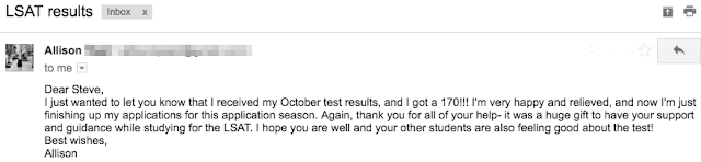 Allison LSAT Email