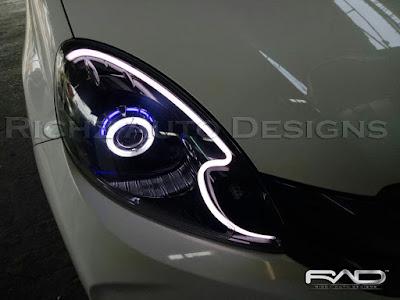 headlamp brio custom projie HID + drl line