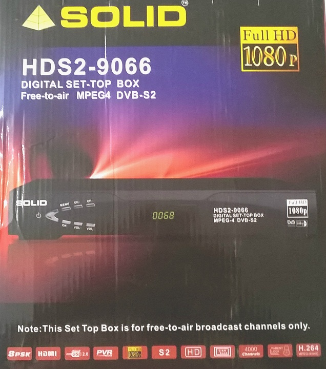 SOLID Launched HDS2-9066 DVB-S2 MPEG-4 Full HD Satellite Receiver