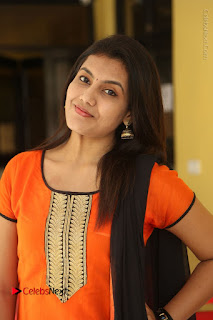 Telugu Actress Chandana Stills in Salwar Kameez at Karam Dosa Movie Press Meet  0049.JPG