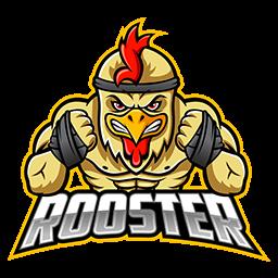 logo ayam petarung vector