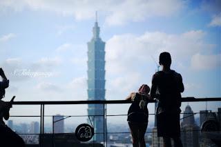 台湾旅行 象山登山 展望台からの眺め