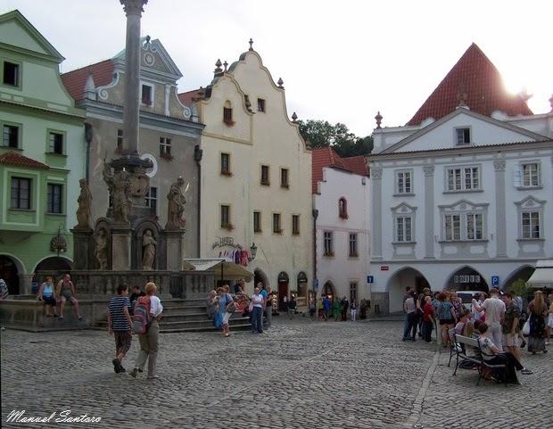 Cesky Krumlov, piazza principale