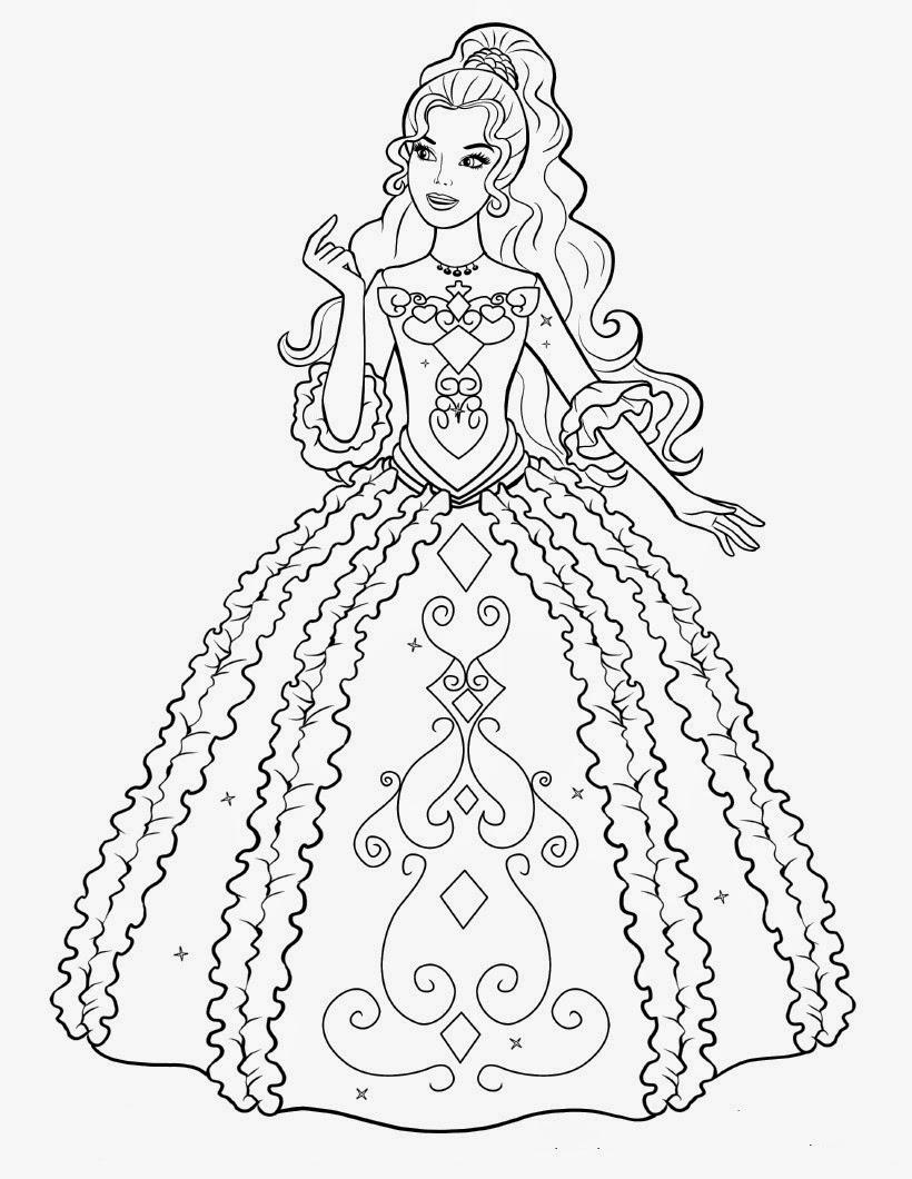 Elegante Desenhos Da Barbie A Princesa Ea Pop Star Para