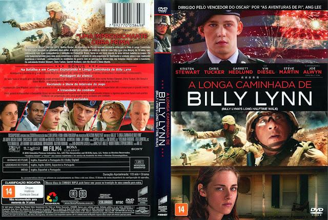 Capa DVD A Longa Caminhada de Billy Lynn (Oficial)