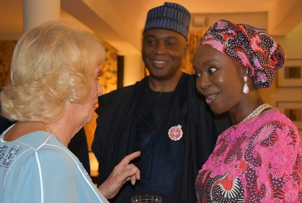The Duchess met guests at the reception including documentary maker Bolanle Olukanni and advocate for women's health Toyin Saraki