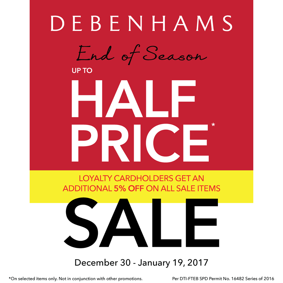 Debenhams End of Season Half-Price SALE  December 2016-January 2017 9e8641c7e