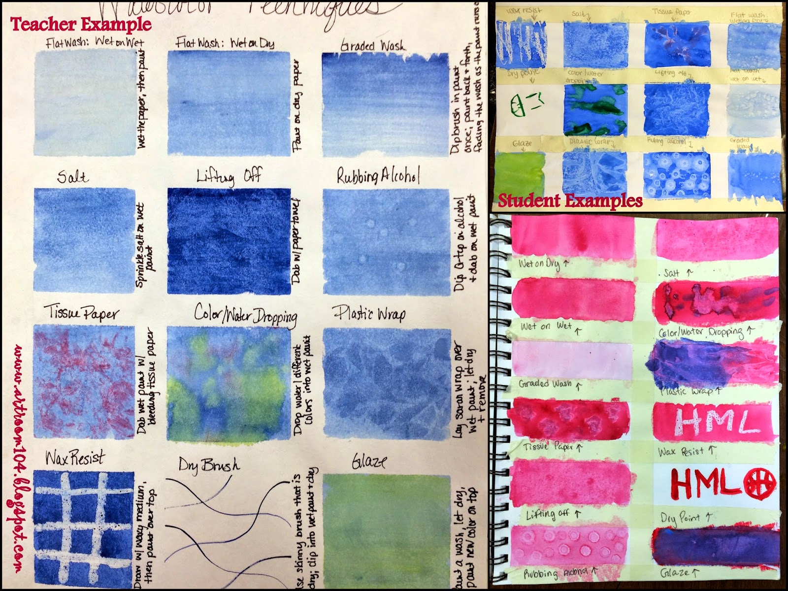 Art Room 104 Studio Art Painting Unit Watercolor